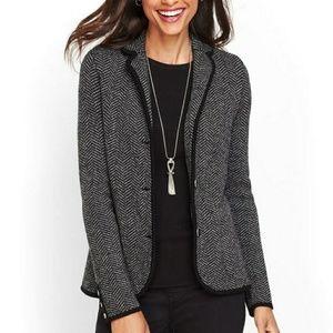 Talbots Merino Wool Sweater Blazer Size XL